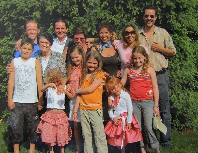 Familie Reiter mit Töchter, Enkel und Urenkel