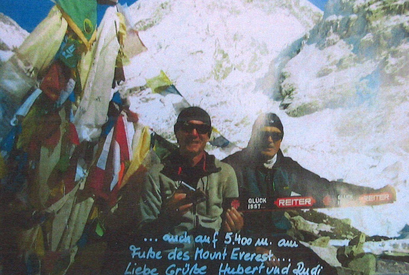 Dr. Achleitner auf dem Mount Everest 2013